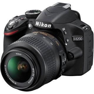 Nikon D3200 DSLR Camera with 18-55mm Lens (Black)