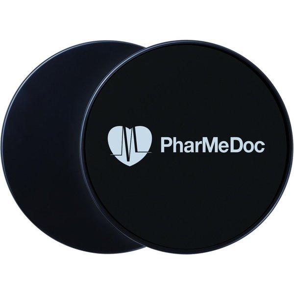 PharMeDoc Gliding Disc Core Sliders Set of 2 Premium Grade Dual Sided Home Gym Equipment for Carpet or Floors