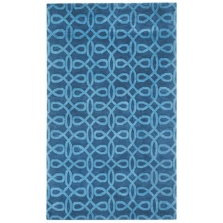 Bridal Veil Hand Knotted Rug Midnight Blue ( 7' x 9')