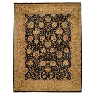 Dehli Hand Knotted Rug Onyx/Gold ( 6' x 9')