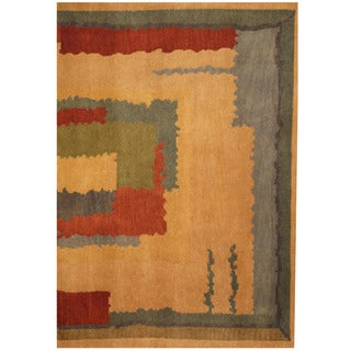 Herat Oriental Indo Hand-knotted Tibetan Wool Rug (3'6 x 5'2)