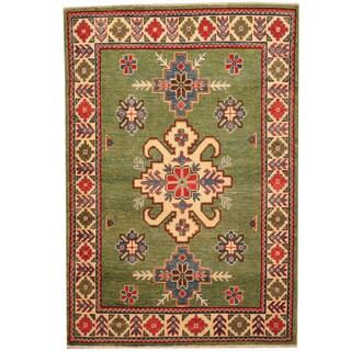 Herat Oriental Afghan Hand-knotted Kazak Wool Rug (3' x 4'6)