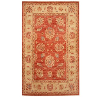 Herat Oriental Afghan Hand-knotted Tribal Oushak Wool Rug (3'3 x 5'5)