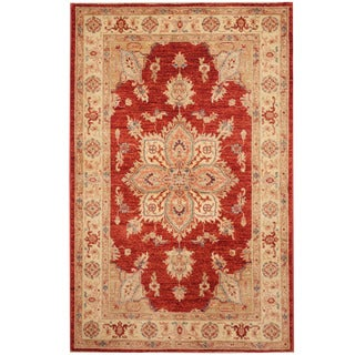 Herat Oriental Afghan Hand-knotted Tribal Oushak Wool Rug (3'4 x 5'9)
