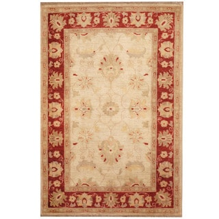 Herat Oriental Afghan Hand-knotted Tribal Oushak Wool Rug (3'3 x 5')
