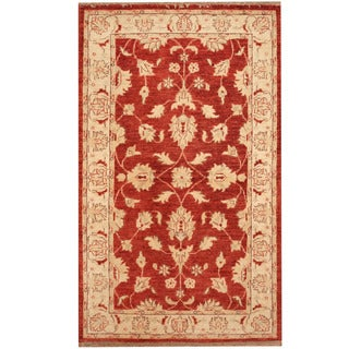 Herat Oriental Afghan Hand-knotted Tribal Oushak Wool Rug (3' x 4'10)