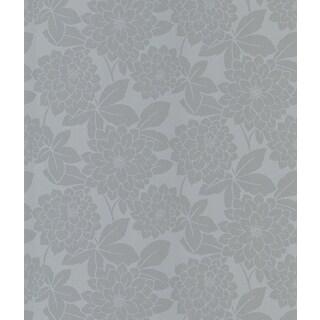 Souci Silver Fun Floral Wallpaper