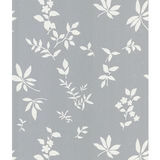 Brewster Botanique Silver Leaves Wallpaper