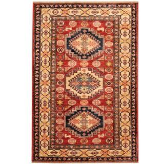 Herat Oriental Afghan Hand-knotted Kazak Wool Rug (3' x 4'1)
