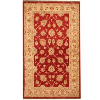 Herat Oriental Afghan Hand-knotted Tribal Oushak Wool Rug (3'10 x 4'9)