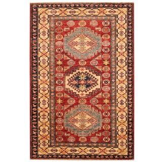 Herat Oriental Afghan Hand-knotted Kazak Wool Rug (3'4 x 6')