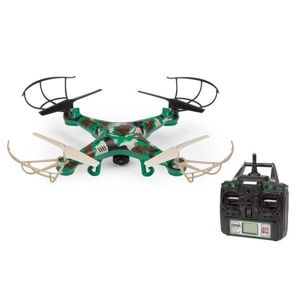 World Tech Toys Striker Camo 2.4 GHz 4.54 Channel Gyro Remote Control Spy Drone Quadcopter