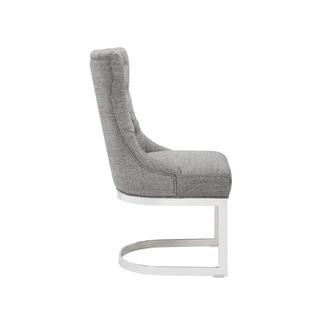 Sunpan Bleecker Milestone Grey Fabric Upholstered Dining Chair