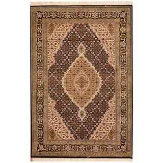 Herat Oriental Indo Hand-knotted Tabriz Wool Rug (3'3 x 5')