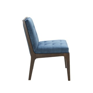 Sunpan Harrison Ink Blue Fabric Dining Chair
