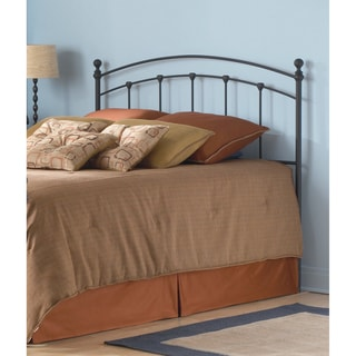 Sanford Metal Headboard with Castings and Round Finial Posts
