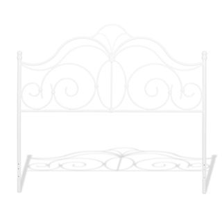 Copper Grove Blanchet Metal Headboard in Glossy White