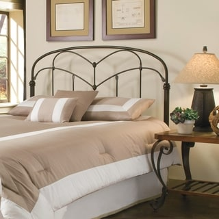 Pomona Headboard with Arched Metal Grill and Detailed Posts