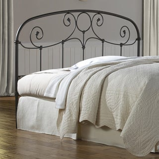 Grafton Metal Headboard with Scrollwork Design and Decorative Castings