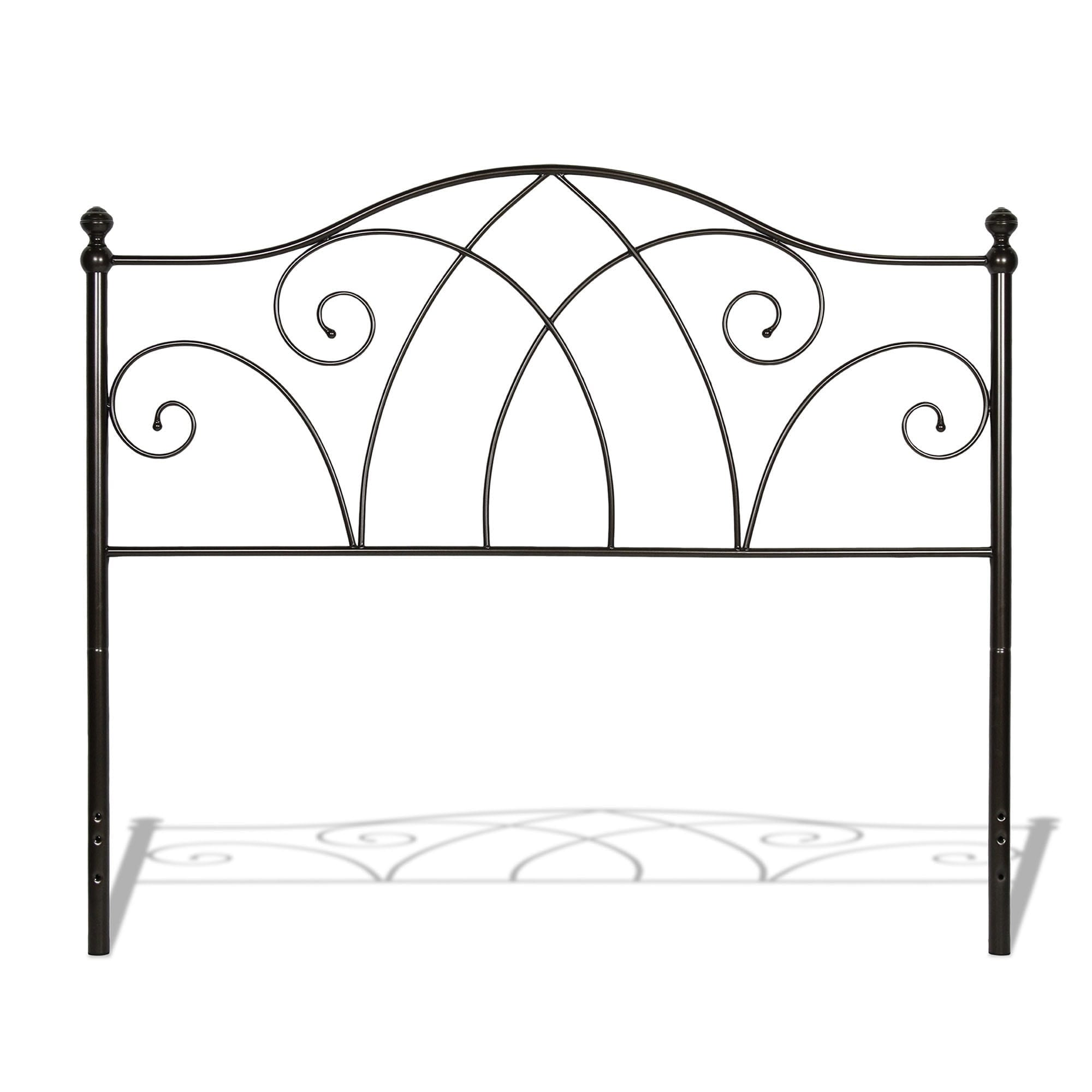 Fashion Bed Group Deland Metal Headboard with Curved Gril...
