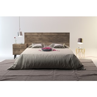 Barcelona Mid-Century Queen Platform Bed with Headboard