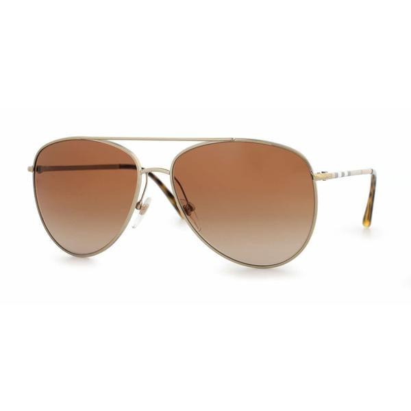 b2c32378709 Shop Burberry Women BE3072 114513 Gold Metal Cateye Sunglasses ...