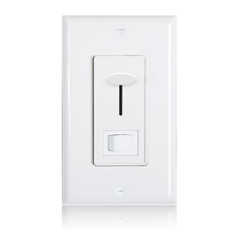 Maxxima 3-Way / Single Pole Dimmer Light Switch 600 Watt, LED Compatible, Wall Plate Included, White