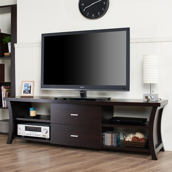 furniture of america danbury ii modern 2 drawer 72 inch tv console free shipping today. Black Bedroom Furniture Sets. Home Design Ideas