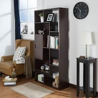 Furniture of America Silvens Contemporary Walnut Open 1-Cabinet Bookcase/Display Shelf