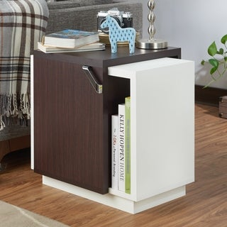 Furniture of America Hasell Contemporary Two-Tone Storage End Table