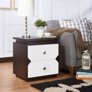 Furniture of America Tarris Contemporary Walnut 2-drawer End Table