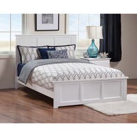 Madison Full Bed with Matching Foot Board in White