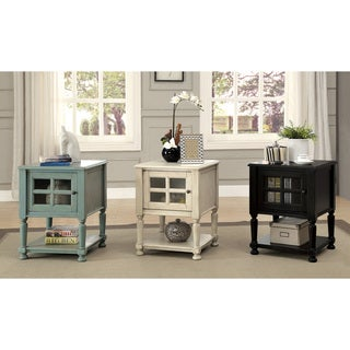 Furniture of America Madelle IV Vintage Style 1-Cabinet Side Table/Nightstand