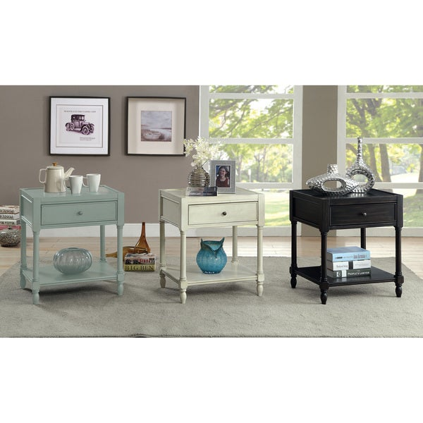 Furniture of America Madelle III Vintage Style Storage End Table/ Nightstand