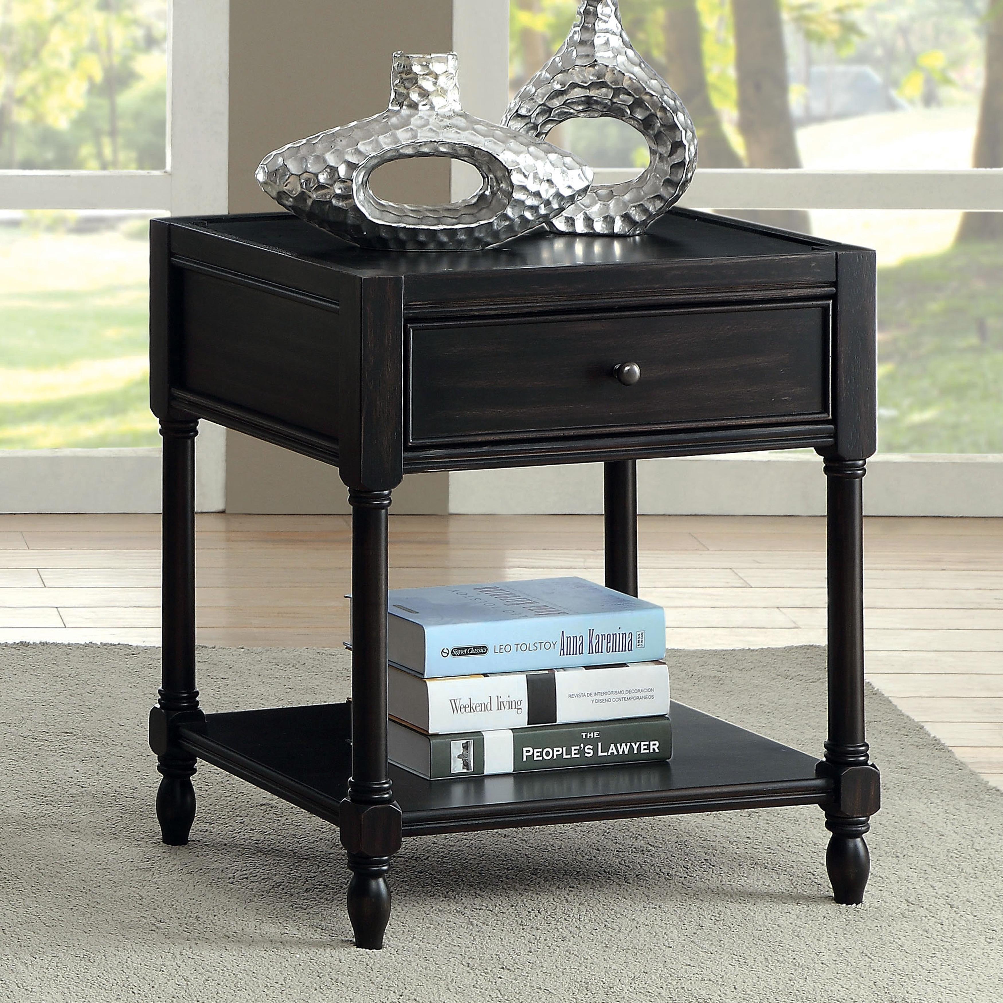 antique black bedroom furniture. Maison Rouge Cocteau Vintage Style End Table (Option: Antique Black) Black Bedroom Furniture R