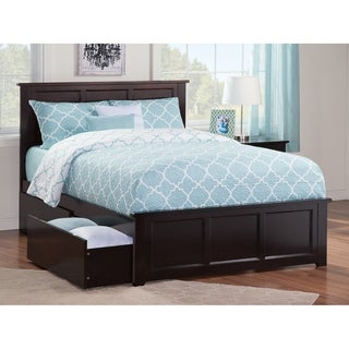 Madison Full Bed with Matching Foot Board with 2 Urban Bed Drawers in Espresso