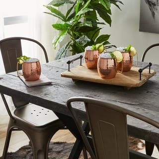 Handmade Copper Hammered Moscow Mule Curved Handle Mugs set of 4 (India)|https://ak1.ostkcdn.com/images/products/13370442/P20061398.jpg?impolicy=medium