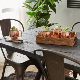 Handmade Copper Hammered Moscow Mule Mugs - Set of 4