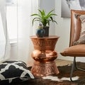 Handmade Hourglass Shape Copper End Table (India)