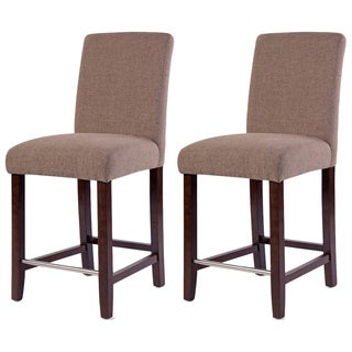 Harper Collection Beige Counter Stool (Set of 2)