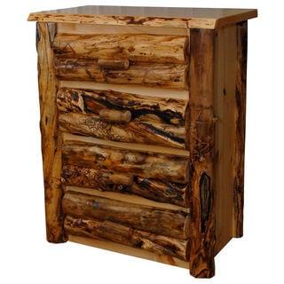 Rustic Aspen Log 4 Drawer Dresser