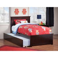 Nantucket Twin Bed with Matching Foot Board with Urban Trundle Bed in Espresso