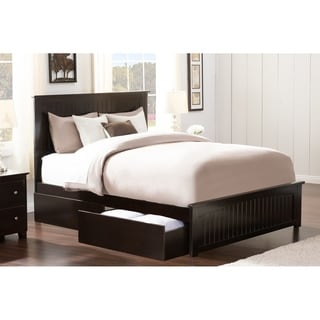 Attirant Nantucket Queen Bed With Matching Foot Board With 2 Urban Bed Drawers In  Espresso