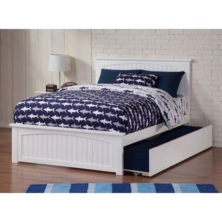 Nantucket Full Bed with Matching Foot Board with Urban Trundle Bed in White|https://ak1.ostkcdn.com/images/products/13370600/P20070281.jpg?impolicy=medium
