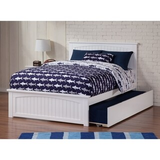 Nantucket Full Bed with Matching Foot Board with Urban Trundle Bed in White