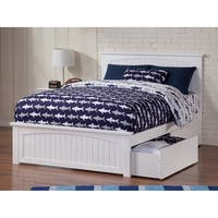Nantucket Full Bed with Matching Foot Board with 2 Urban Bed Drawers in White