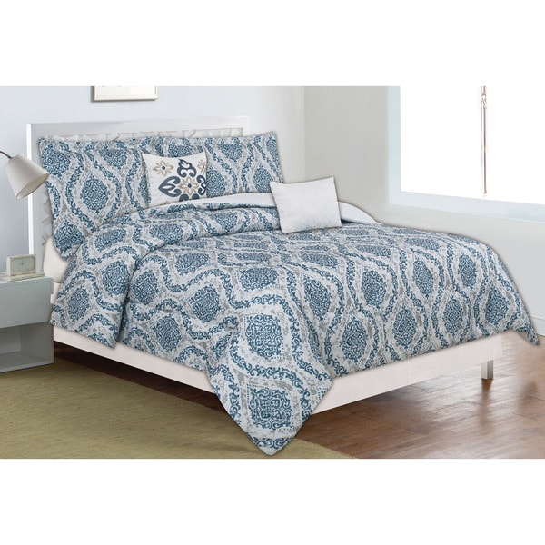 Home Dynamix Classic Trends Collection Neoteric Filigree 5-piece Comforter Set
