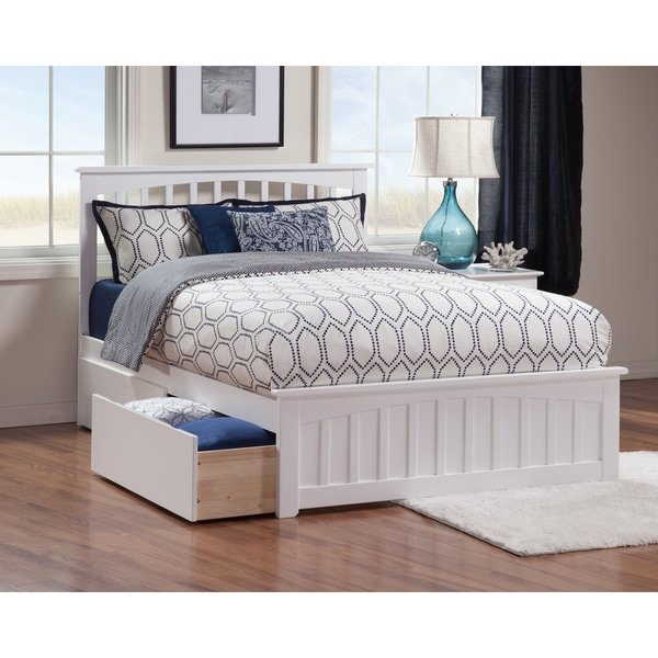 Mission queen bed with matching foot board with 2 urban for Urban home beds