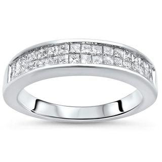 Noori 14k White Gold 3/4ct TDW Princess-cut Diamond Wedding Band Ring (H-I, SI1-SI2)