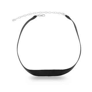 Link to La Preciosa Sterling Silver Black Nylon Choker Similar Items in Fashion Jewelry Store